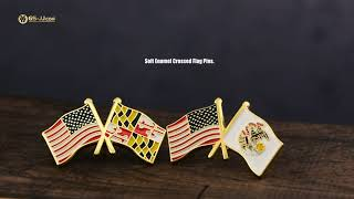 State & USA & World Flag Pins of Affordable Prices and High-Quality!